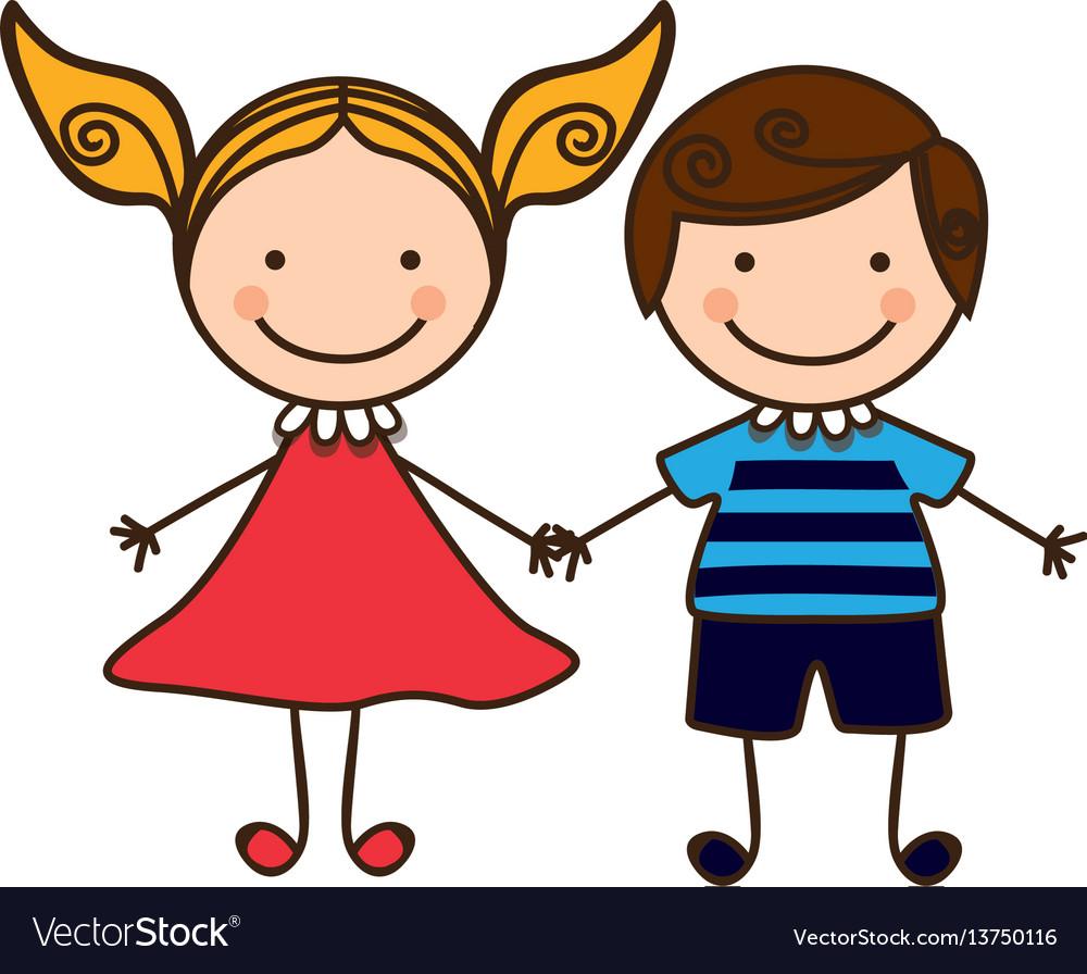 couple-boy-and-girl-cartoons-icon-vector-13750116